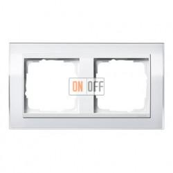 Рамка двойная, для гориз./вертик. монтажа Gira Event Clear белый глянец-белый 0212723