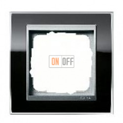 Рамка одинарная Gira Event Clear черный-алюминий 0211736