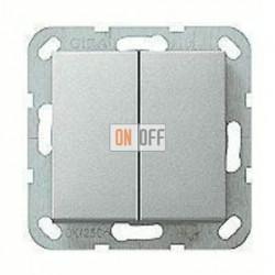 Выключатель двухклавишный, проходной (вкл/выкл с 2-х мест) 10 А / 250 В~ 010800 - 029526