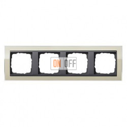 Рамка четверная, для гориз./вертик. монтажа Gira Event Clear песочный-антрацит 0214778