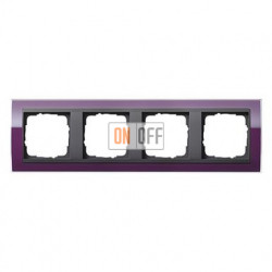 Рамка четверная, для гориз./вертик. монтажа Gira Event Clear темно-фиолетовый-антрацит 0214758