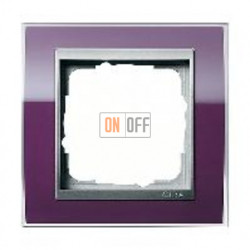 Рамка одинарная Gira Event Clear темно-фиолетовый-алюминий 0211756