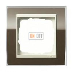 Рамка одинарная Gira Event Clear коричневый- кремовый глянец 0211761