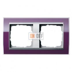 Рамка двойная, для гориз./вертик. монтажа Gira Event Clear темно-фиолетовый-алюминий 0212756