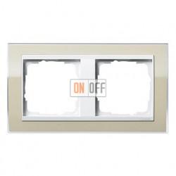Рамка двойная, для гориз./вертик. монтажа Gira Event Clear песочный-белый глянец 0212773