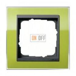Рамка одинарная Gira Event Clear зеленый-антрацит 0211748