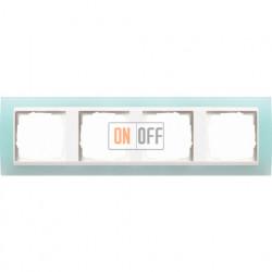 Рамка четверная Gira Event Opaque салатовый/белый глянец 0214395