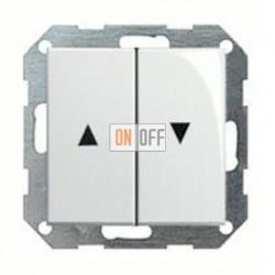 Выключатель управления жалюзи кнопочный, 10 А / 250 В~ 015800 - 029403