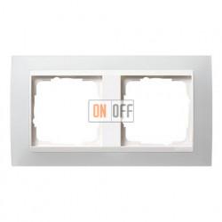 Рамка двойная Gira Event Opaque матово-белый/глянц.белый 0212334