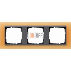 Рамка тройная Gira Event Opaque матово-оранжевый/антрацит 021387