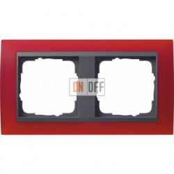 Рамка двойная Gira Event Opaque матово-красный/антрацит 021288