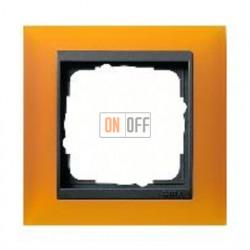 Рамка одинарная Gira Event Opaque матово-янтарный/антрацит 021114
