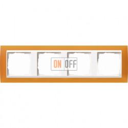 Рамка четверная Gira Event Opaque матово-янтарный/бел. Глянец 0214332