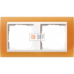 Рамка двойная Gira Event Opaque  матово-оранжевый/бел. Глянец 0212397