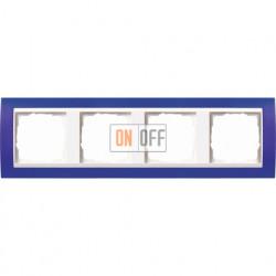 Рамка четверная Gira Event Opaque матово-синий/бел. глянец 0214399