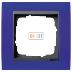 Рамка одинарная Gira Event Opaque матово-синий/антрацит 021189