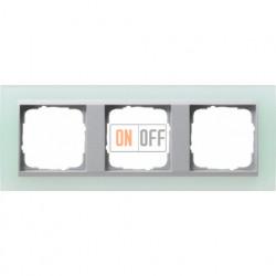 Рамка тройная Gira Event Opaque салатовый/алюминий 021351