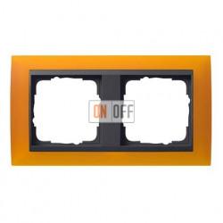 Рамка двойная Gira Event Opaque матово-янтарный/антрацит 021214