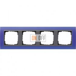 Рамка четверная Gira Event Opaque матово-синий/антрацит 021489