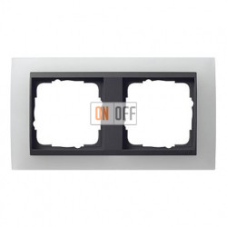 Рамка двойная Gira Event Opaque матово-белый/антрацит 021224