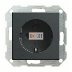 Розетка с заземляющими контактами 16 А / 250 В~ с защитой от детей и пиктограммой 045328
