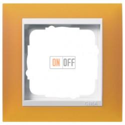 Рамка одинарная Gira Event Opaque матово-янтарный/бел. Глянец 0211332