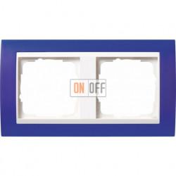 Рамка двойная Gira Event Opaque матово-синий/бел. глянец 0212399