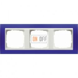 Рамка тройная Gira Event Opaque матово-синий/бел. глянец 0213399