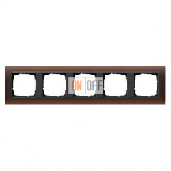 Рамка пятерная Gira Event Opaque матово-коричневый/антрацит 021513