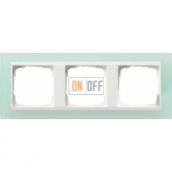 Рамка тройная Gira Event Opaque салатовый/белый глянец 0213395