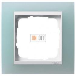 Рамка одинарная Gira Event Opaque салатовый/белый глянец 0211395