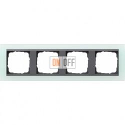 Рамка четверная Gira Event Opaque салатовый/антрацит 021485