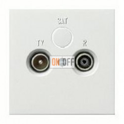 Розетка телевизионная проходная TV FM, диапазон частот от 4 до 2400 MГц 004100 - 0869112
