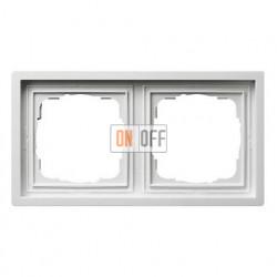 Рамка двойная, для гориз./вертик. монтажа Gira F100 белый глянцевый 0212112