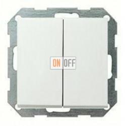 Выключатель двухклавишный, проходной (вкл/выкл с 2-х мест) 10 А / 250 В~ 010800 - 0295112
