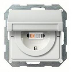 Розетка с заземляющими контактами 16 А / 250 В~, с откидной крышкой и уплотнительной мембраной IP44 025227 - 0454112