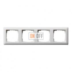 Рамка четверная, для гориз./вертик. монтажа Gira Standart 55 белый матовый 021404