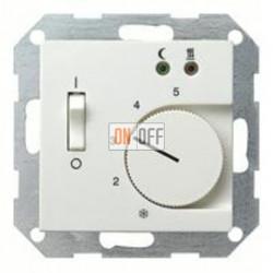 Термостат 230 В~ 10А  с выносным датчиком для электрического подогрева пола механизм Eberle FRe 525 22 - 149403
