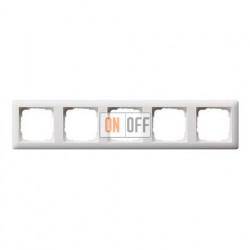 Рамка пятерная, для гориз./вертик. монтажа Gira Standart 55 белый матовый 021504