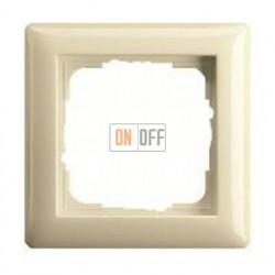 Рамка одинарная Gira Standart 55 кремовый глянцевый 021101