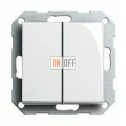 Выключатель двухклавишный, проходной (вкл/выкл с 2-х мест) 10 А / 250 В~ 010800 - 029503