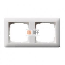 Рамка двойная, для гориз./вертик. монтажа Gira Standart 55 белый матовый 021204