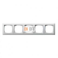 Рамка пятерная, для гориз./вертик. монтажа Gira Standart 55 белый глянцевый 021503