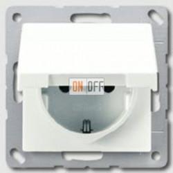 Розетка с заземляющими контактами 16 А / 250 В~, с откидной крышкой и уплотнительной мембраной IP44 551wu - AS1520KLWW