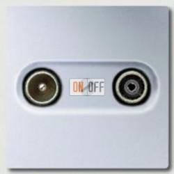 Розетка телевизионная проходная TV FM, диапазон частот от 4 до 2400 MГц A561PLTVAL - S2900-10