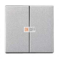 Выключатель двухклавишный, проходной (вкл/выкл с 2-х мест) 10 А / 250 В~ 509u - A595AL
