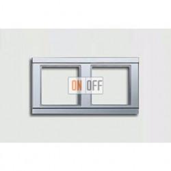 Рамка двойная, для горизон./вертик. монтажа Jung A 500, алюминий A582AL