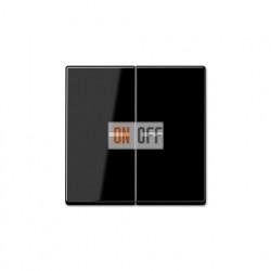 Выключатель двухклавишный, с подсветкой 10 А / 250 В~ 505u5 - A595KO5SW