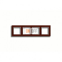 Рамка четверная, для горизон./вертик. монтажа Jung A Creation, стекло красное глянцевое ac584glrt