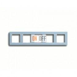 Рамка пятерная, для горизон./вертик. монтажа Jung A Creation, стекло серо-голубое AC585GLBLGR